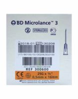 BD MICROLANCE 3, G25 5/8, 0,5 mm x 16 mm, orange  à Saint Denis
