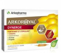 Arkoroyal Dynergie Ginseng Gelée royale Propolis Solution buvable 20 Ampoules/10ml à Saint Denis