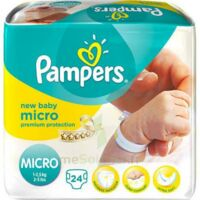 PAMPERS COUCHES NEW BABY MICRO 1-2,5 KG x 24 à Saint Denis