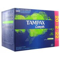 TAMPAX COMPAK, super, bt 22 à Saint Denis