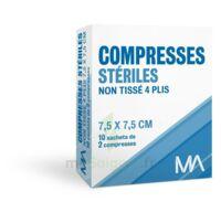 Marque Conseil Compresse stérile non tissé 7,5x7,5cm 10 Sachets/2 à Saint Denis
