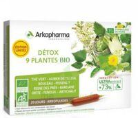 Arkofluide Bio Ultraextract Solution buvable détox 9 Plantes 20 Ampoules/10ml à Saint Denis